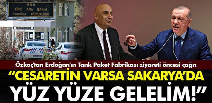 """تماس یوزکوچ قبل از دیدار اردوغان از کارخانه بسته بندی مخزن: """"اگر کمی شهامت دارید ، بیایید در ساکاریا رو در رو ملاقات کنیم"""" – مدیبار"""